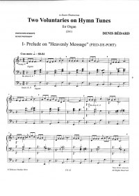Bédard: CH. 62 Two Voluntaries on Hymn Tunes