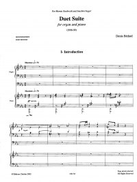 Bédard: CH. 32 Duet Suite for organ and piano